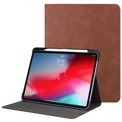 Cover2day iPad Pro 11 hoes - PU Leer Folio Book Case - Bruin