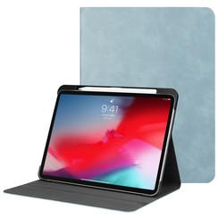 Apple iPad Pro 11 (2018) hoes - PU Leer Folio Book Case - Licht Blauw