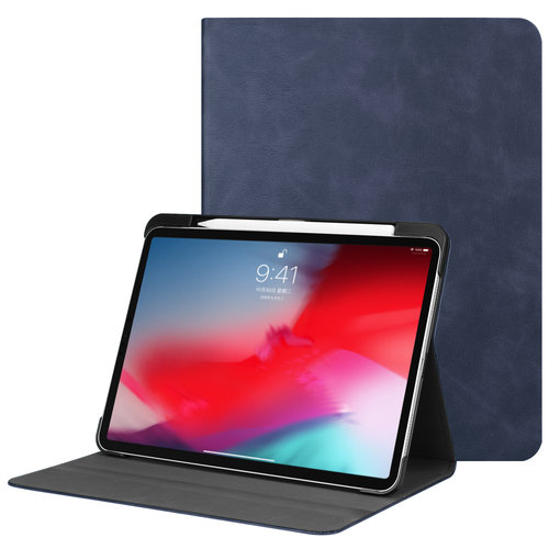 Cover2day iPad Pro 11 hoes - PU Leer Folio Book Case - Donker Blauw