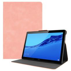 Huawei MediaPad T5 10 hoes - PU Leer Folio Book Case - Roze