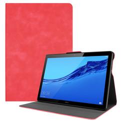 Huawei MediaPad T5 10 hoes - PU Leer Folio Book Case - Rood