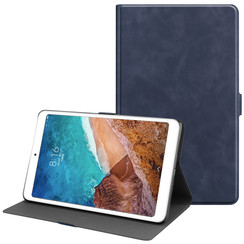 Xiaomi Mi Pad 4 Plus hoes - PU Leer Folio Book Case - Donker Blauw
