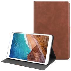 Xiaomi Mi Pad 4 Plus hoes - PU Leer Folio Book Case - Bruin