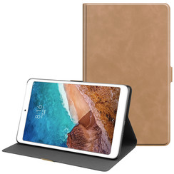 Xiaomi Mi Pad 4 Plus hoes - PU Leer Folio Book Case - Licht Bruin