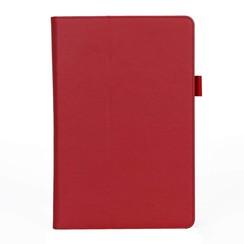 Samsung Tab S4 Case - Hand Strap Book Case - Red