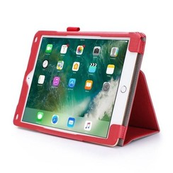 iPad 9.7 - Hand Strap Book Case - Red
