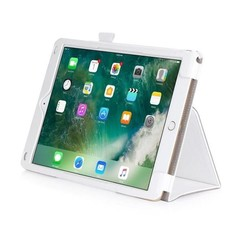 iPad 9.7 - Hand Strap Book Case - White