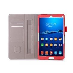 Huawei Mediapad M3 Hand Strap Book Case Red