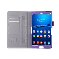 Huawei Mediapad M3 Hand Strap Book Case Paars