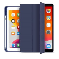 WIWU - iPad 10.2 (2019) hoes - PU Leren Tri-Fold Book Case - Blauw