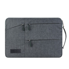 Laptop en Macbook sleeve 13.3 / 14 inch - WiWu Gent Business Sleeve - Laptoptas - Waterafstotend - Grey