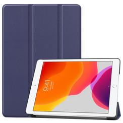 Case2go - iPad 2020 Case - 10.2 inch - Slim Tri-Fold Book Case - Lightweight Smart Cover - Navy Blue