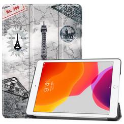iPad 2020 hoes - 10.2 inch - Tri-Fold Book Case - Eiffeltoren