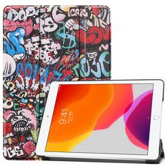 iPad 2020 hoes - 10.2 inch - Tri-Fold Book Case - Graffiti