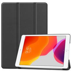 Case2go - iPad 2020 Case - 10.2 inch - Slim Tri-Fold Book Case - Lightweight Smart Cover - Black