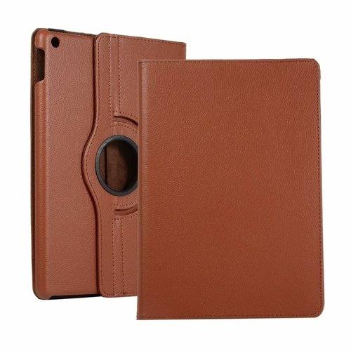 Cover2day Case for iPad (2020) 10.2 inch - 360 Degree Rotation Stand Cover - Brown