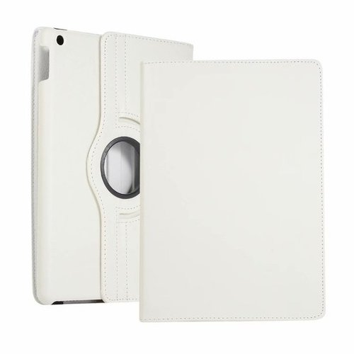 Cover2day Case for iPad (2020) 10.2 inch - 360 Degree Rotation Stand Cover - White