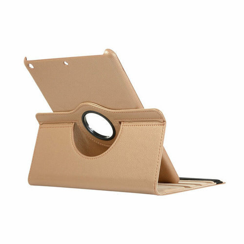 Cover2day Case for iPad (2020) 10.2 inch - 360 Degree Rotation Stand Cover - Gold