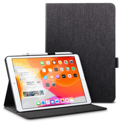 Apple iPad 2020 hoes - 10.2 inch - Book Case Urban Simplicity Holder - Zwart