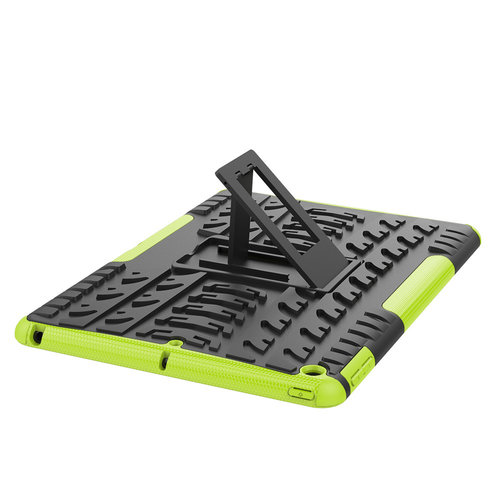 Cover2day Case for iPad 10.2 inch 2020 - Heavy Duty Hybrid Tough Rugged Dual Layer Armor - Kickstand Cover - Green