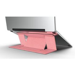 Macbook / Laptop Standaard - Zelfklevend opvouwbare laptop standaard - Roze