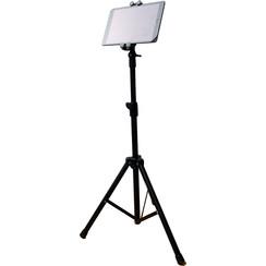 Universele Tablet Standaard - Vloerstandaard - Verstelbaar statief - 360° draaibaar - 70-120 cm - Zwart