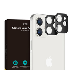 iPhone 12 - Full Cover Camera Lens screenprotector - Tempered Glass - Black (2-Pack)
