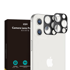 iPhone 12 Pro Max - Full Cover Camera Lens screenprotector - Tempered Glass - Black (2-Pack)