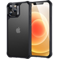 ESR Air Armor - iPhone 12 / iPhone 12 Pro Hoes - Schokbestendige Back Cover - Extreme TPU Back Cover - Zwart