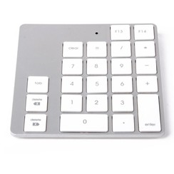 LMP - Bluetooth Keypad 2 - Numeriek Numpad voor Apple Magic Keyboard - 23 toetsen - Incl. verbindingsbalk - Zilver