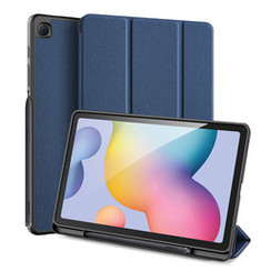 Dux Ducis - Case for Samsung Galaxy Tab S6 Lite - Domo Book Case - Tri-fold Cover with Pencil Holder - Blue