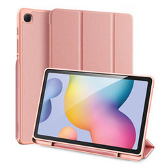 Dux Ducis - Case for Samsung Galaxy Tab S6 Lite - Domo Book Case - Tri-fold Cover with Pencil Holder - Pink