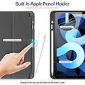 Dux Ducis Dux Ducis - iPad Air 4 10.9 hoes - Osom Tri-Fold Book Case met Pencil houder - Zwart