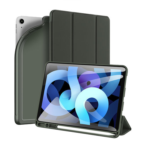 Dux Ducis Dux Ducis - iPad Air 4 10.9 hoes - Osom Tri-Fold Book Case met Pencil houder - Groen