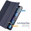 Dux Ducis Dux Ducis - iPad Air 4 10.9 hoes - Osom Tri-Fold Book Case met Pencil houder - Blauw