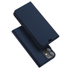 Dux Ducis - Case for iPhone 12 Mini - Ultra Slim PU Leather Flip Folio Case with Magnetic Closure - Blue