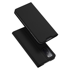 Dux Ducis - Case for Samsung Galaxy S20 FE - Ultra Slim PU Leather Flip Folio Case with Magnetic Closure - Black