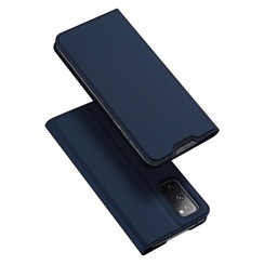 Dux Ducis - Case for Samsung Galaxy S20 FE - Ultra Slim PU Leather Flip Folio Case with Magnetic Closure - Blue
