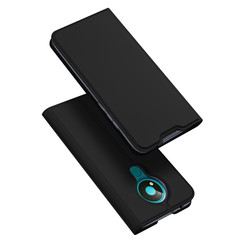 Dux Ducis - Case for Nokia 3.4 - Ultra Slim PU Leather Flip Folio Case with Magnetic Closure - Black