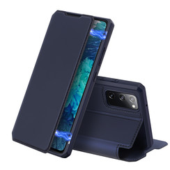 Dux Ducis - Case for Samsung Galaxy S20 FE - Skin X Series Magnetic Flip Case with Card Slot - Blue