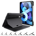 ESR Case for iPad Air (2020) Case - Rugged PRedection - Book Case Sentry Stand - 7 Multi-Angle Kickstand - Black