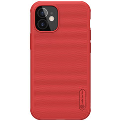 Nillkin - iPhone 12 Mini  hoesje - Super Frosted Shield Pro - Back Cover - Rood