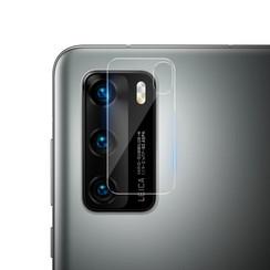 Huawei P40 - Full Cover Camera lens screenprotector - Tempered Glass - Transparant (2-Pack)