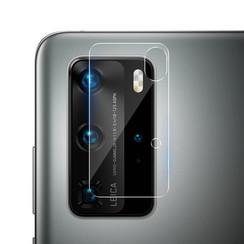 Huawei P40 Pro - Full Cover Camera Lens screenprotector - Tempered Glass - Clear (2-Pack)