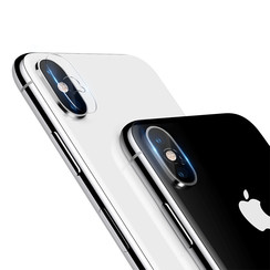 Nillkin - Apple iPhone Xs Max - Full Cover Camera lens screenprotector - Tempered Glass - Transparant (2-Pack)