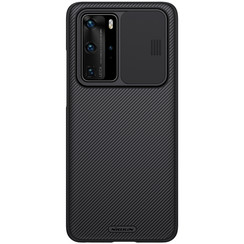 Nillkin - Huawei P40 Pro hoesje - CamShield Case - Back Cover - Zwart