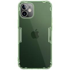 Nillkin - iPhone 12 Mini hoesje - Nature TPU Case - Back Cover - Donker Groen