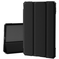 iPad 10.2 2020 hoes - Schokbestendige Tri-Fold Case met TPU frame - Alpha Smart Folio Case - Zwart