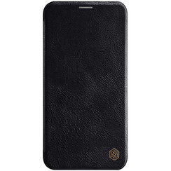 Apple iPhone 11 Pro Max - Qin Leather Case - Zwart