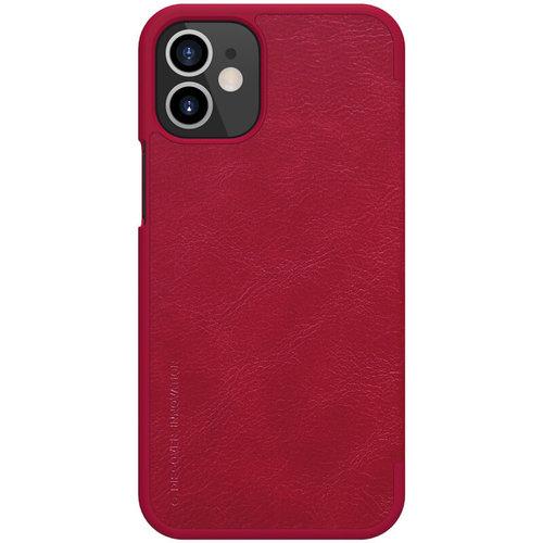 Nillkin Apple iPhone 12 Mini - Qin Leather Case - Rood